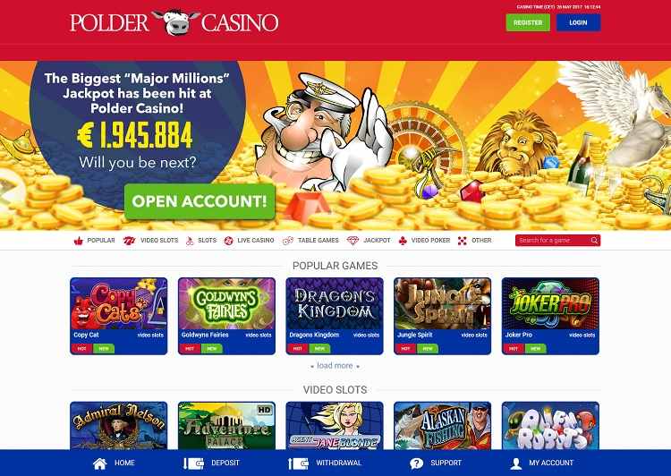 Polder Casino website